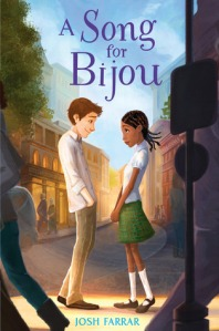 A Song for Bijou boy and girl looking at each other on street corner