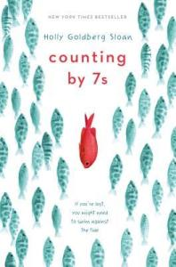 Counting by 7s tween book blue fish swimming up one red fish opposite direction