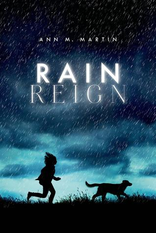 rain reign girl running behind dog dark rain clouds