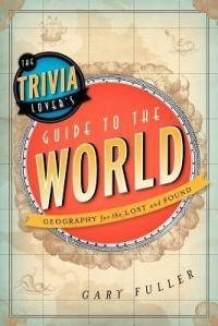 Trivia lovers guide to the world inside a globe with banner