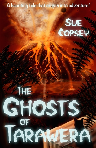 The ghosts of tarawera erupting volcano seen through forest
