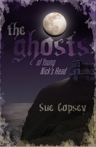 The ghosts of young nicks head full moon over cliff old house on edge