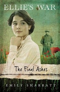 The final ashes girl with hair in bun WWI soldier behind her poppies