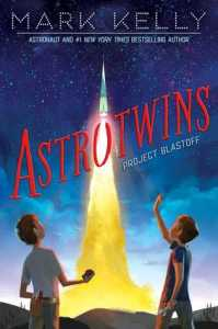 Astrotwins Project blastoff twin boys rocket rising in between them starry sky