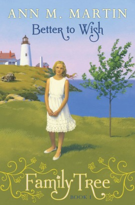 Better to wish girl in white on grass by sea lightho
