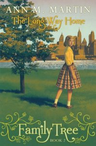 The Long way home young girl on grass New York city skyline background