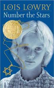 Number the stars young girl necklace with Star of David and Newbery medal