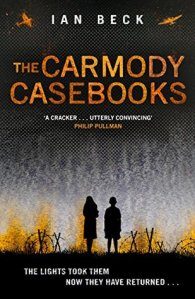 The Carmody Casebooks girl and boy in silhouette war planes above