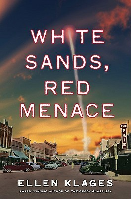White sands, red menace rocket launch town scene from road