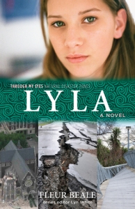 Lyla teen girl on top images of earthquake damage