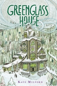 Greenglass house winter scene big old house covered in snow