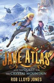 Jake Atlas & the quest for the crystal mountain boy and girl on snowy mountain temple helicopter and snow buggy behind