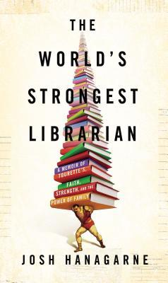 The world's strongest librarian weightlifter/strongman holding up growing pile of books