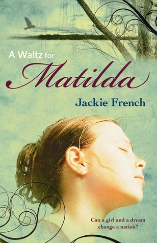 A waltz for Matilda girl with brown hair in bun eyes closed light green background tree and bird on top